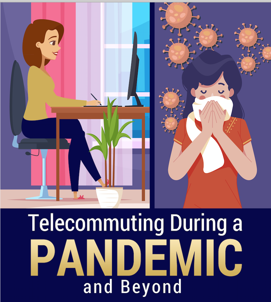 infographic sharing telecommuting tips