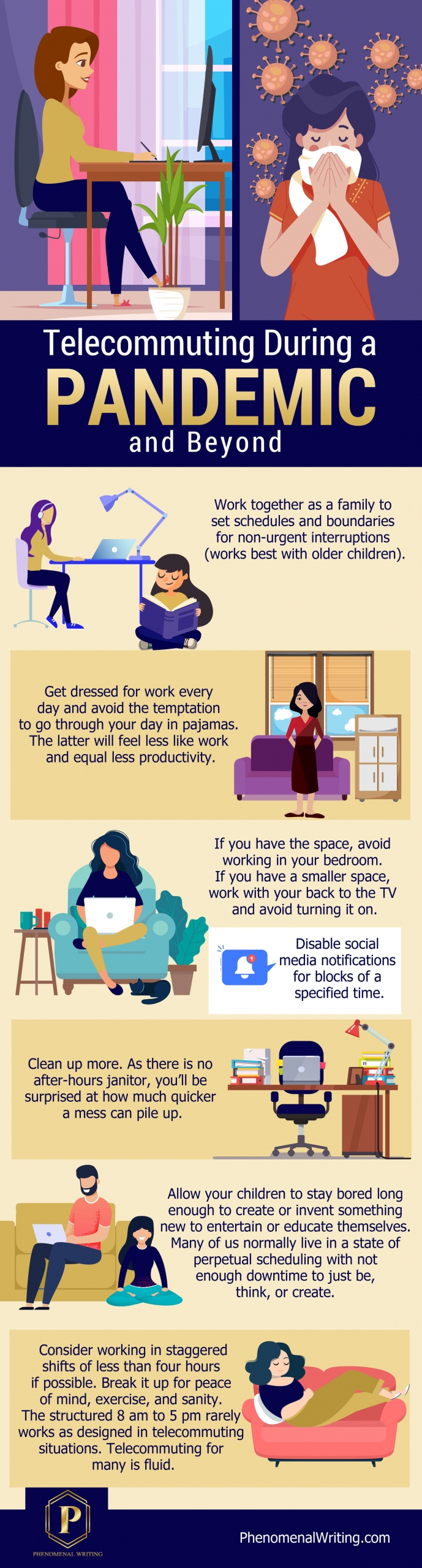 tips for telecommuting during a pandemic and beyond.