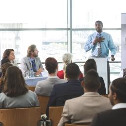 african-american businessman in meeting